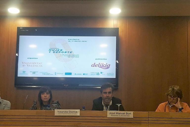 """Participación en las I Jornadas """"Mujer y Deporte"""" organizadas por la Universidad de Valencia"""